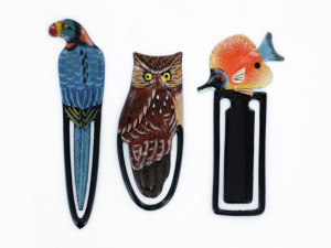 Wholesale: Assorted animal wooden bookmarks