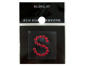 Wholesale: Bling Jeweled Letter & Number Stickers