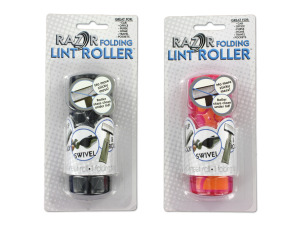 Wholesale: Folding lint roller, 2 assorted colors