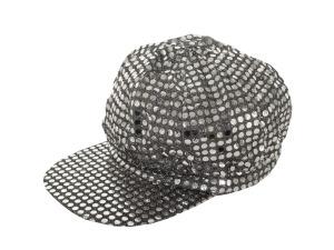 Silver Sequin News Boy Hat