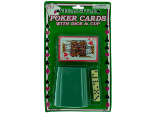 Wholesale: Poker cards/cup/5 dice