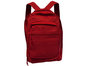 Red Backpack With Multiple Storage Pockets