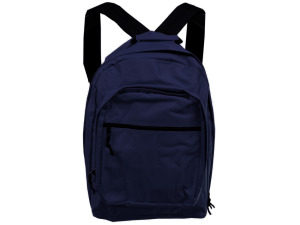 Blue And Black Backpack With Storage Pockets