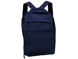 Blue Backpack With Multiple Storage Pockets