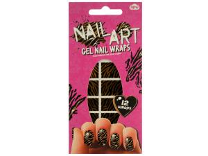 Tiger Stripes Nail Art Gel Nail Wraps Set