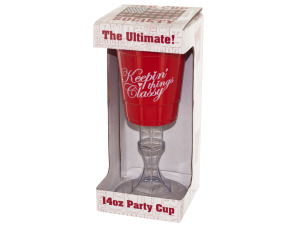 Wholesale: Red Party Cup with Stand