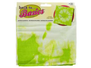 Lime Green Tie Dye Bandana