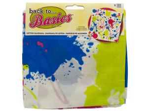 White Neon Paint Splatter Bandana