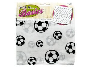 Black & White Soccer Bandana