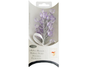 Wholesale: Lavender Faceted Drops Bouquet Floral Picks