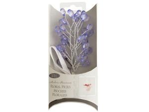 Wholesale: Purple Faceted Drops Bouquet Floral Picks