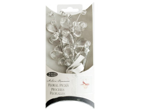 Wholesale: Clear Jewel Butterfly Floral Picks
