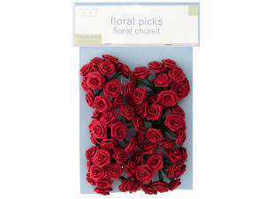 Wholesale: Red Rose Floral Picks