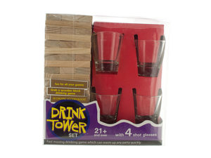 Wholesale: Drink Tower Wooden Block Drinking Game
