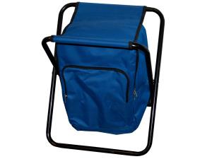 Blue Backpack Campstool Cooler