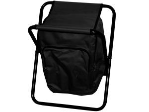 Black Backpack Campstool Cooler