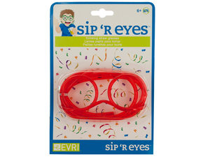 Wholesale: Sip 'R Eyes Drinking Straw Glasses
