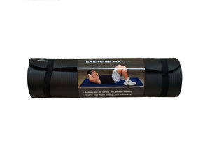 Extra Thick Black Exercise Mat