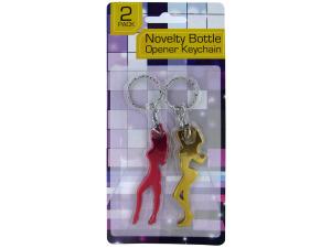 Wholesale: Lady Shaped Bottle Opener Keychain Set