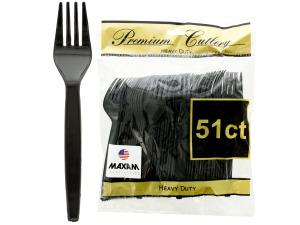 Wholesale: Heavy Duty Black Plastic Forks Set