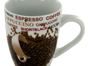 Wholesale: 12 oz. Coffee Beans Ceramic Mug