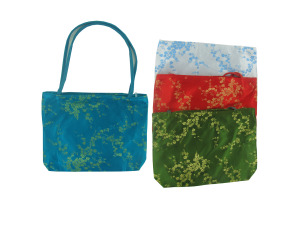 Purse with gold flower design