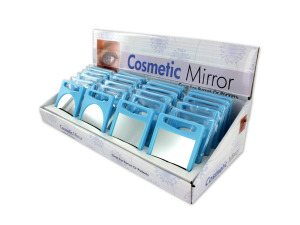 Double-sided cosmetic mirror display