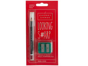 Looking Sharp Lip & Eye Pencil & Sharpener Duo