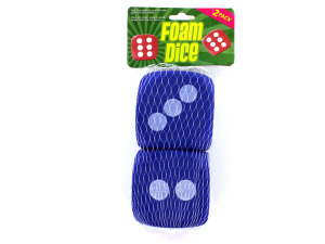 Wholesale: Large foam dice, pack of 2