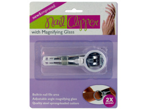 Wholesale: Nail Clipper with Magnifying Glass