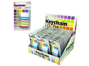 Wholesale: Color Coded Key Chain ID Tags Countertop Display