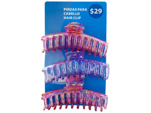 Wholesale: 3 pack hair claw clips