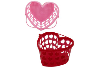 Wholesale: Heart Basket With Handle