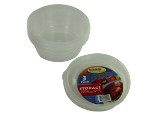 Round storage containers, pack of 3