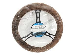 Wholesale: Brown Fleece Steering Wheel Cover