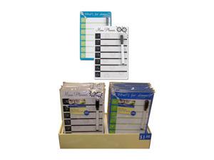Dry erase menu planner display
