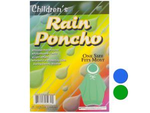 Wholesale: Children's Hooded Rain Poncho