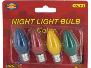 Wholesale: Colored Night Light Bulbs Set