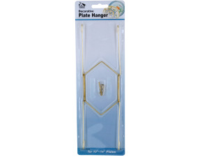 Wholesale: Large Brass-Plated Decorative Plate Hanger
