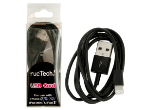 Black iPhone USB Charge Cord