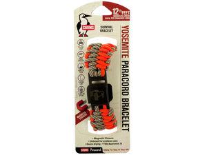 Orange & Grey Chums Yosemite Paracord Survival Bracelet