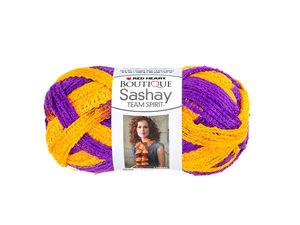 Wholesale: Purple & Gold Team Spirit Sashay Yarn