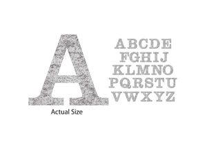 Wholesale: 26 Piece Chipboard Alphabet Vintage Silver Stickers