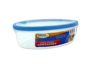 Oval food storage container