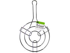 Wholesale: Steel Round Trivet with Long Handle