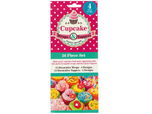 Wholesale: Decorative Cupcake Wraps and Toppers Set