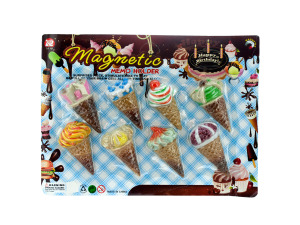 Wholesale: 8pc ic cream memo magnets