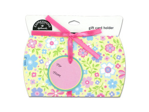 """Wholesale: Floral gift card holder with """"to"""" and """"from"""" tag"""