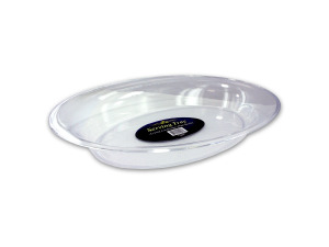 Wholesale: Oval crystal cut serving bowl