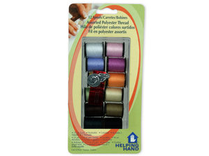 Wholesale: 12 Spool Sewing Kit with Threader